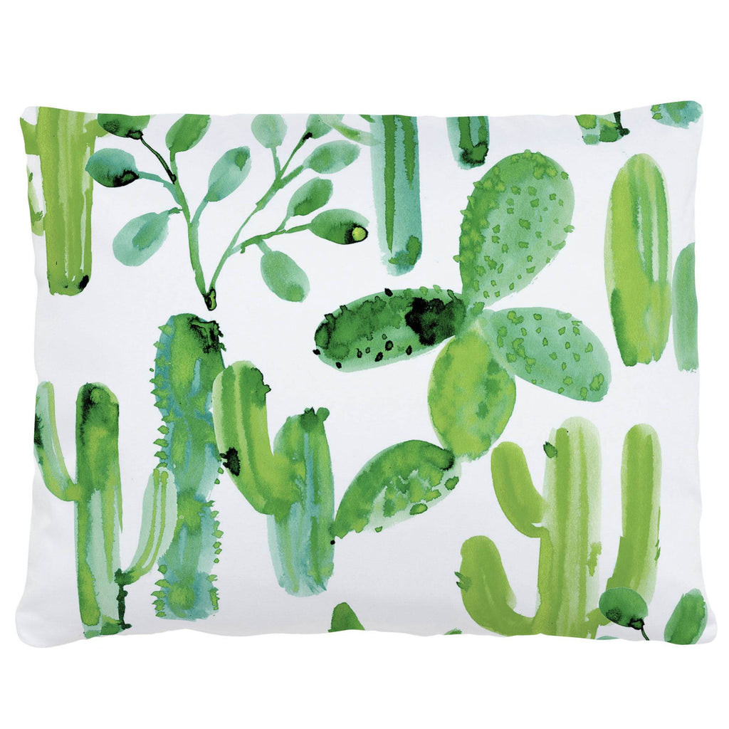 Product image for Green Painted Cactus Accent Pillow