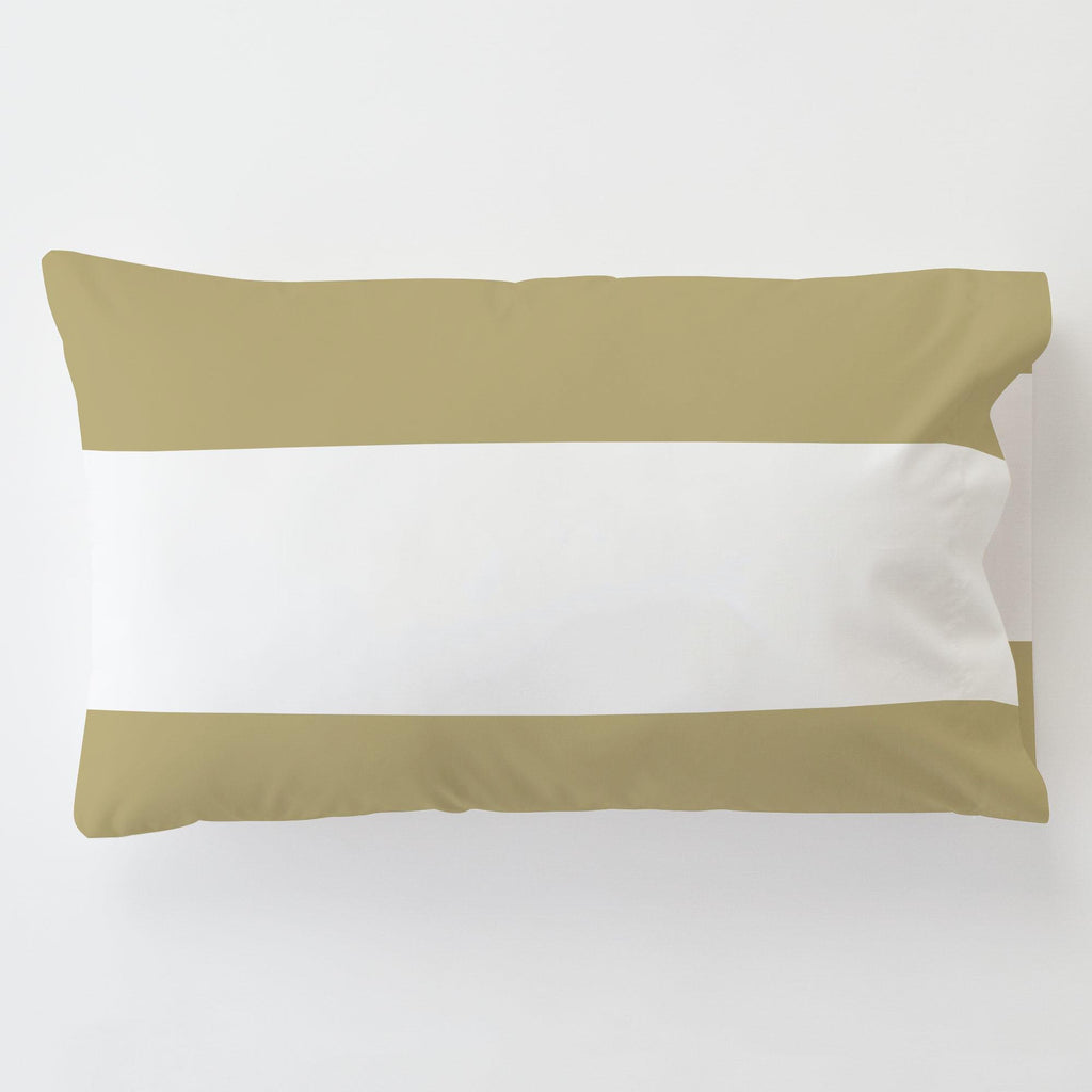 Product image for Tan Horizontal Stripe Toddler Pillow Case with Pillow Insert