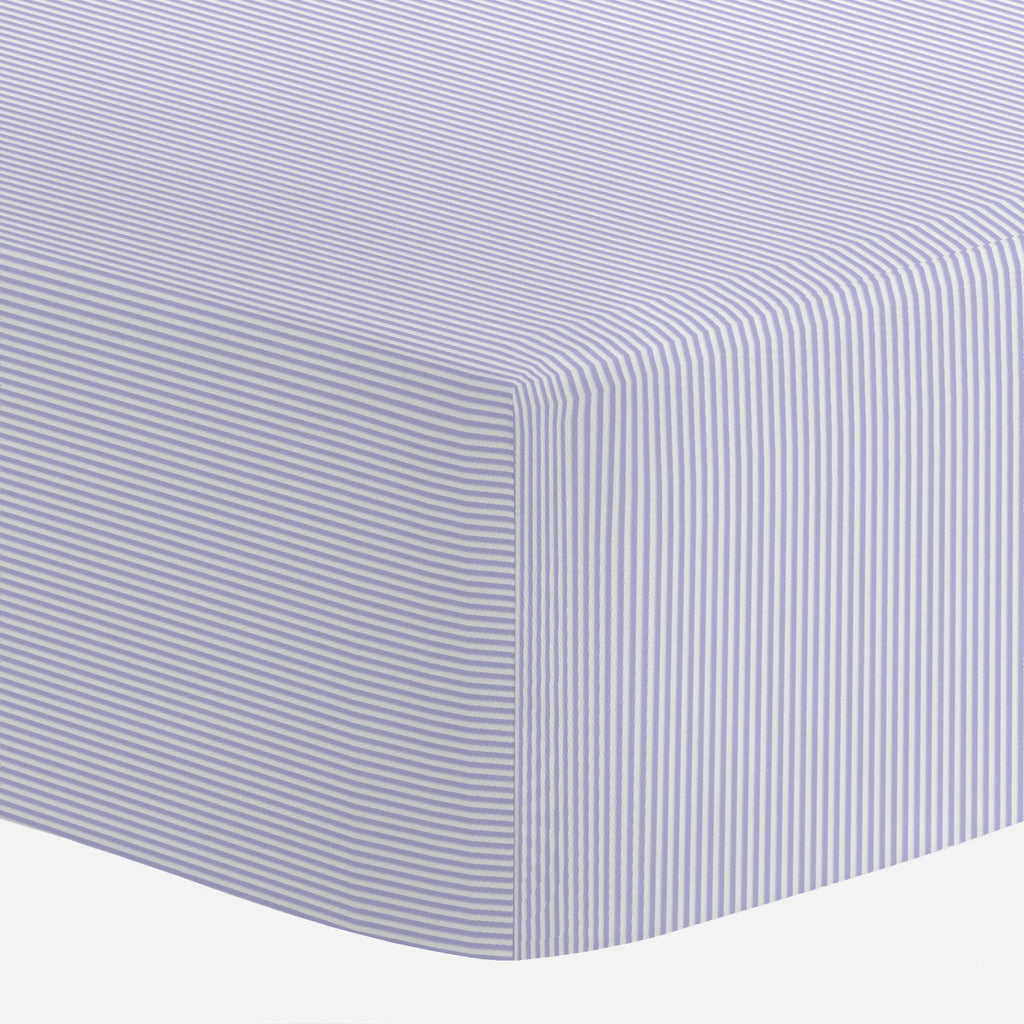 Product image for Lilac Mini Stripe Crib Sheet