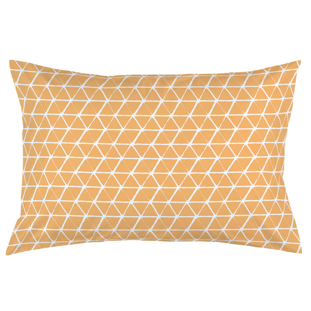 Product image for Light Orange Aztec Triangles Pillow Case