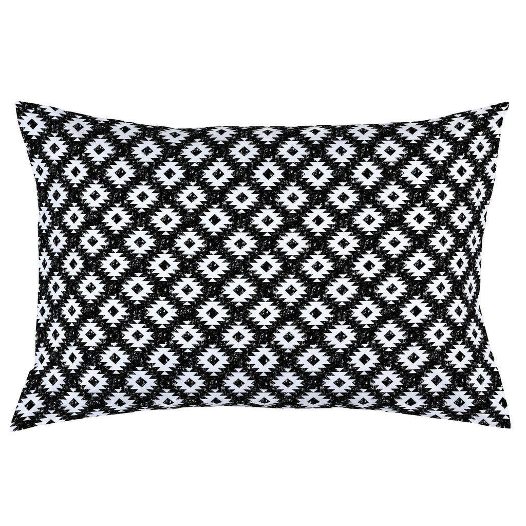 Product image for Onyx and White Aztec Pillow Case
