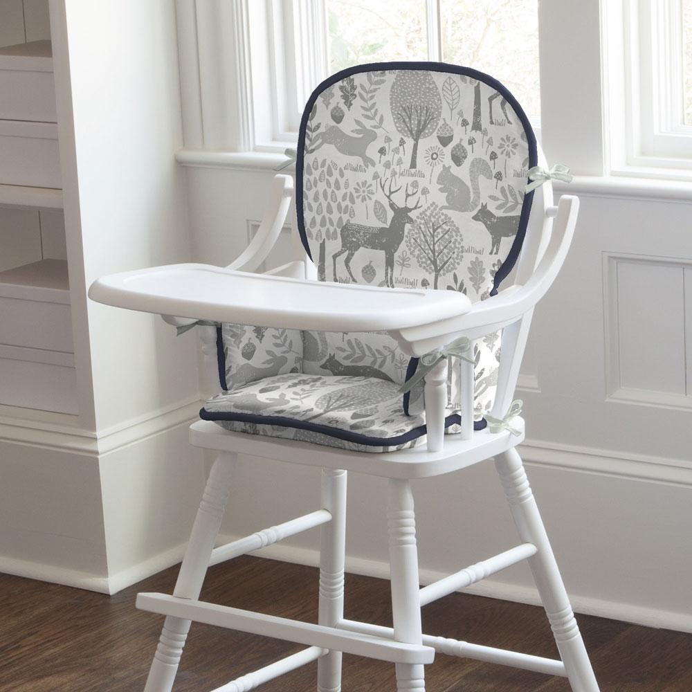 Product image for Gray Woodland Animals High Chair Pad