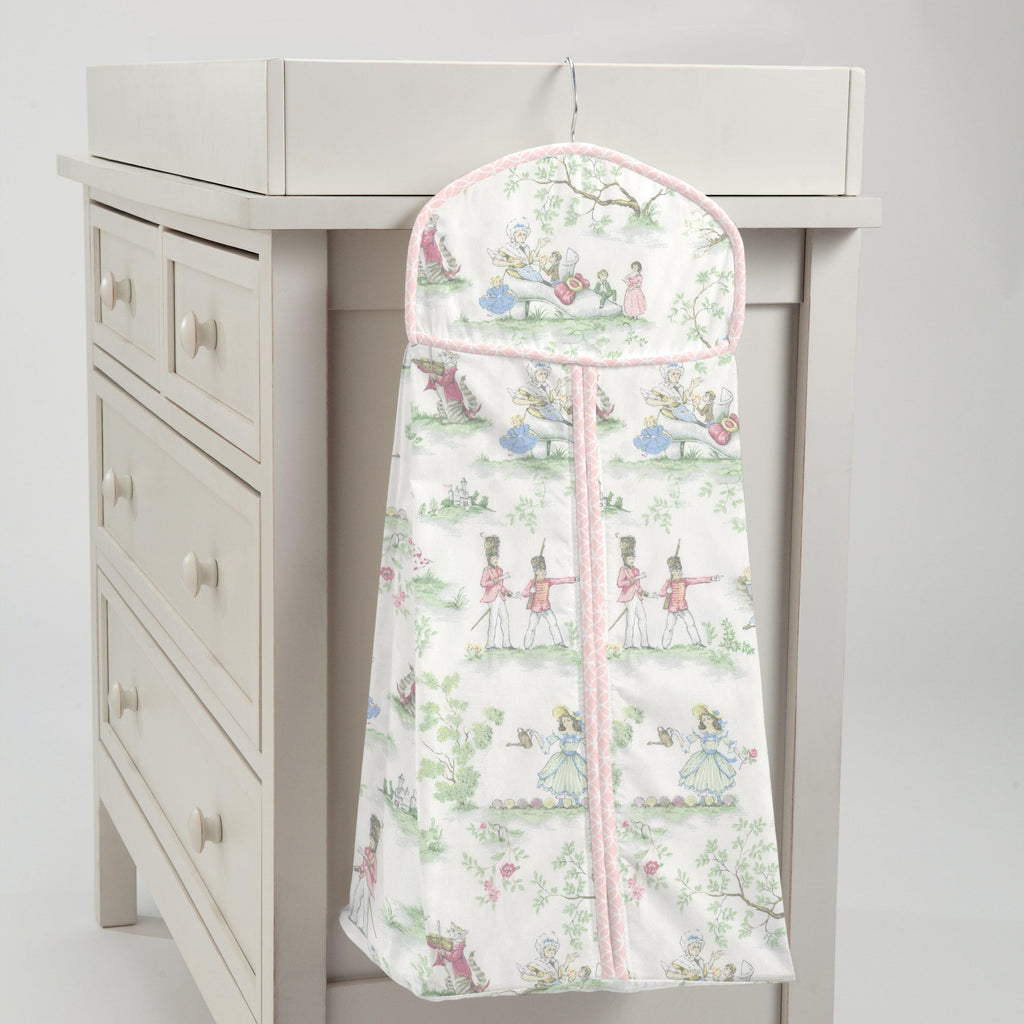 Product image for Pink and Nursery Rhyme Toile Diaper Stacker