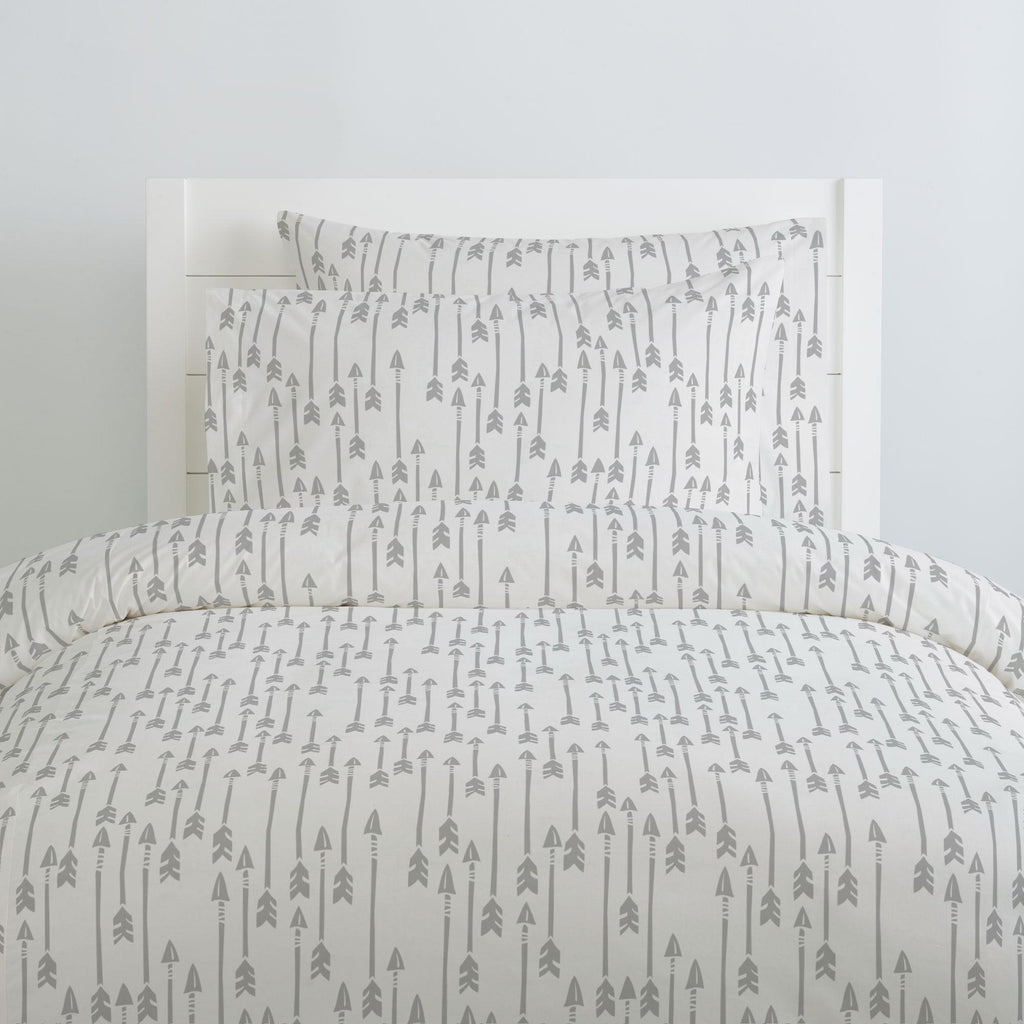 Product image for Silver Gray Flying Arrow Duvet Cover