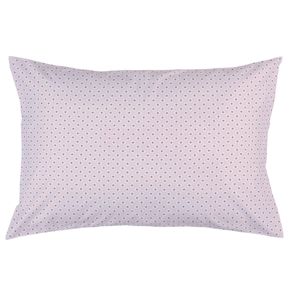 Product image for Pink and Gray Diamond Pillow Case