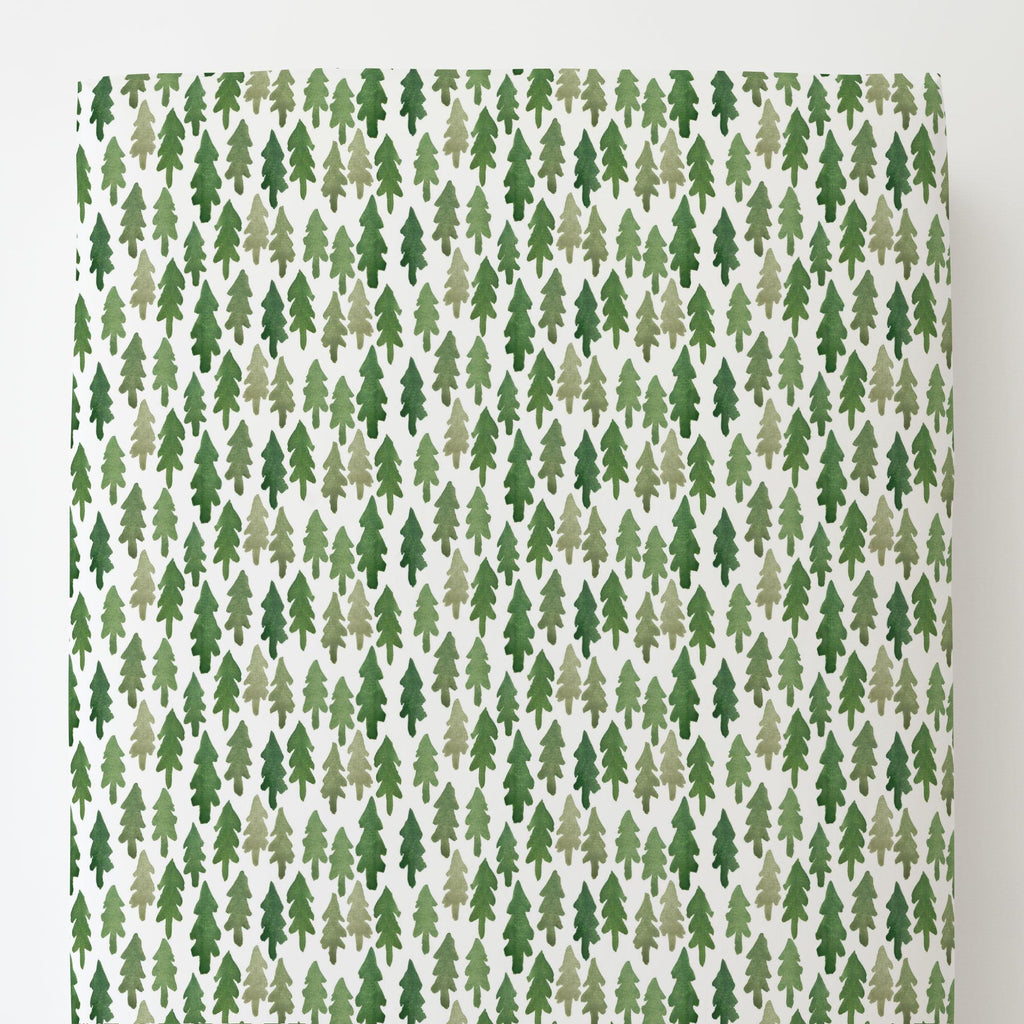 Product image for Evergreen Forest Toddler Sheet Bottom Fitted