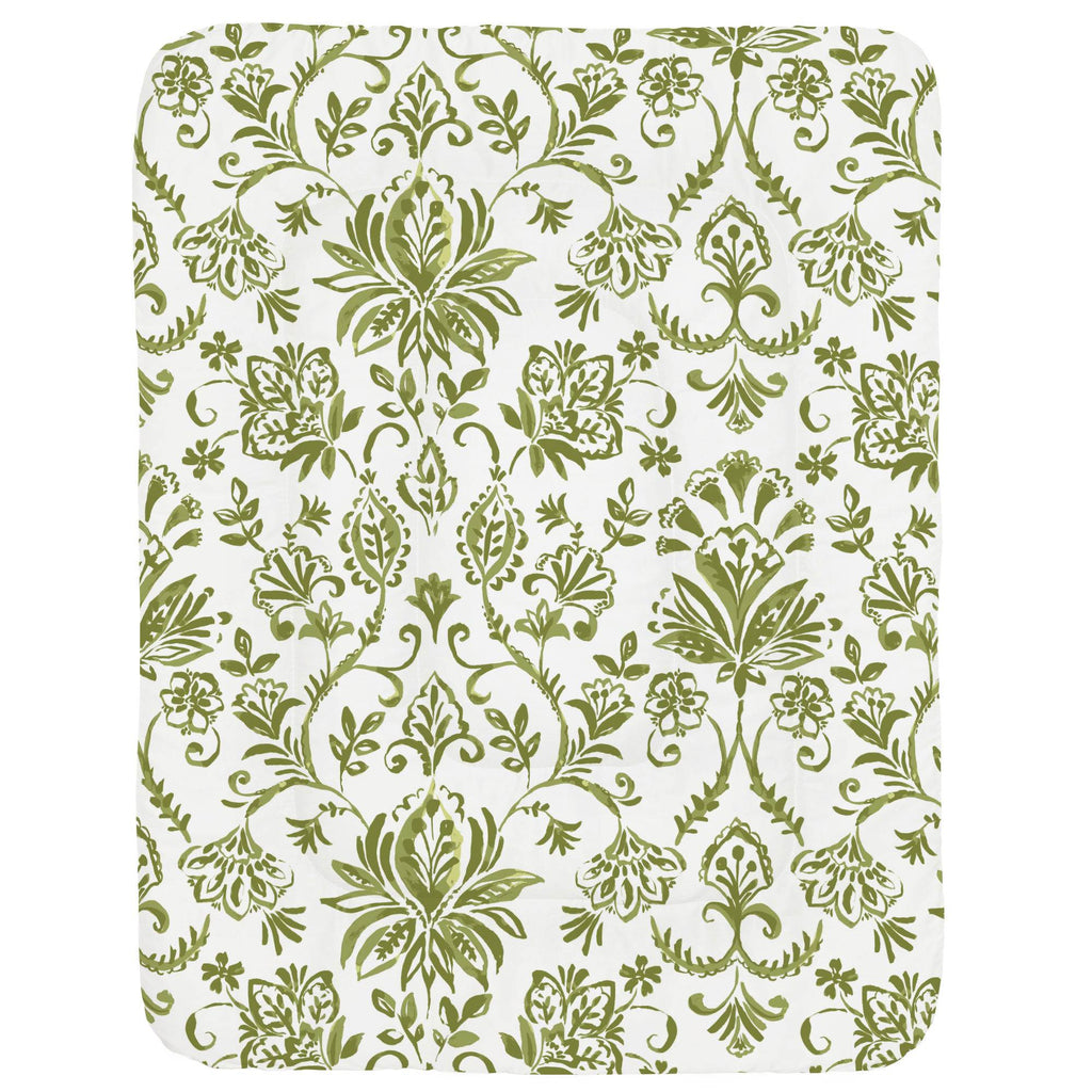 Product image for Sage Coastal Damask Crib Comforter