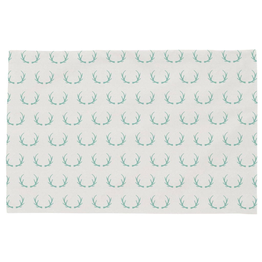Product image for Mint Antlers Toddler Pillow Case