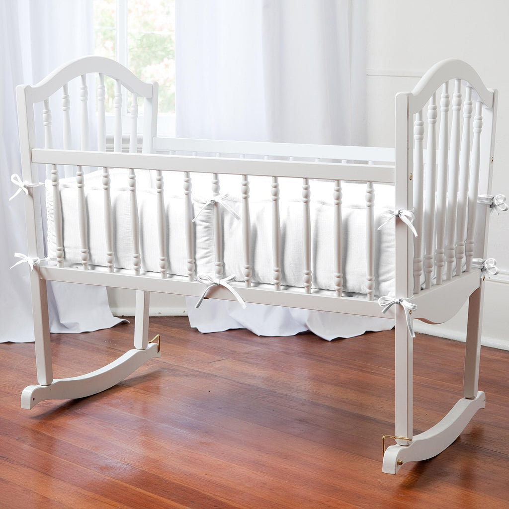Product image for White Pique Cradle Bumper