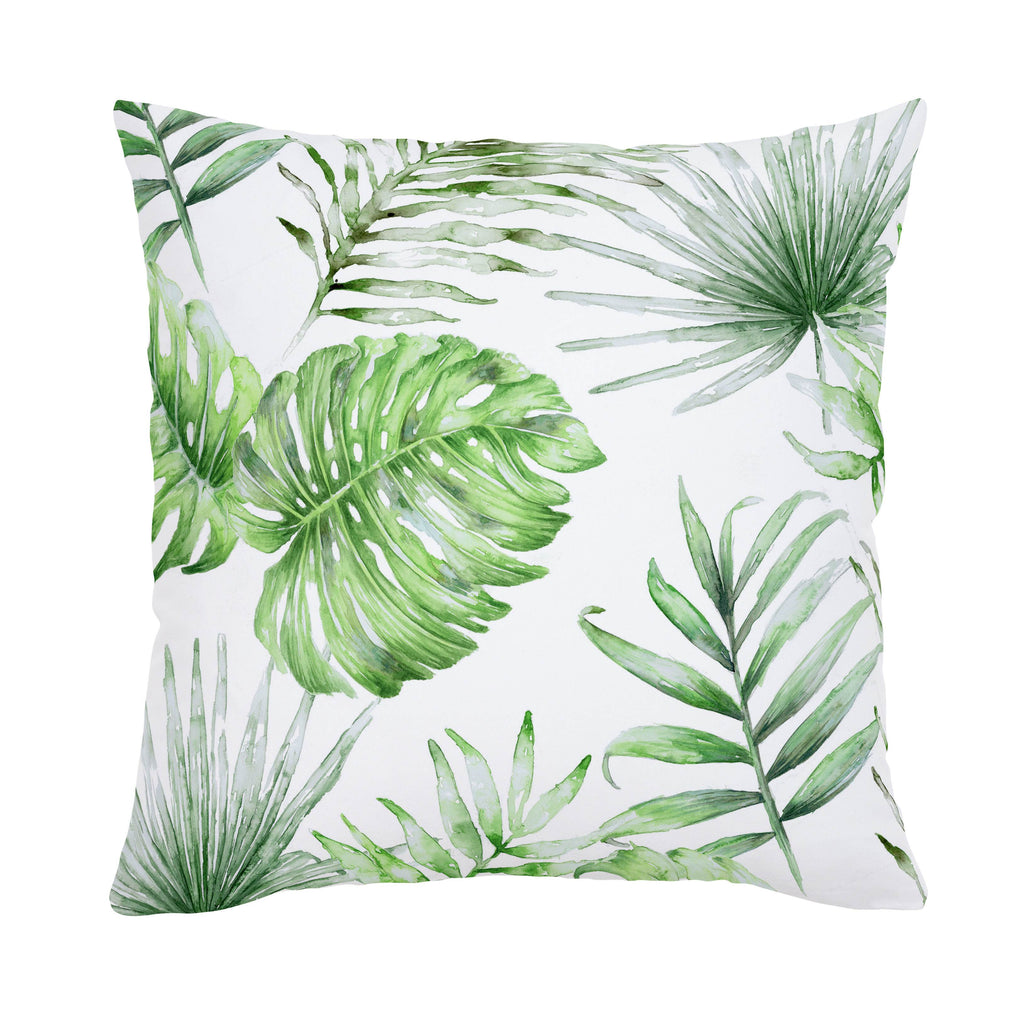 Product image for Green Painted Tropical Throw Pillow