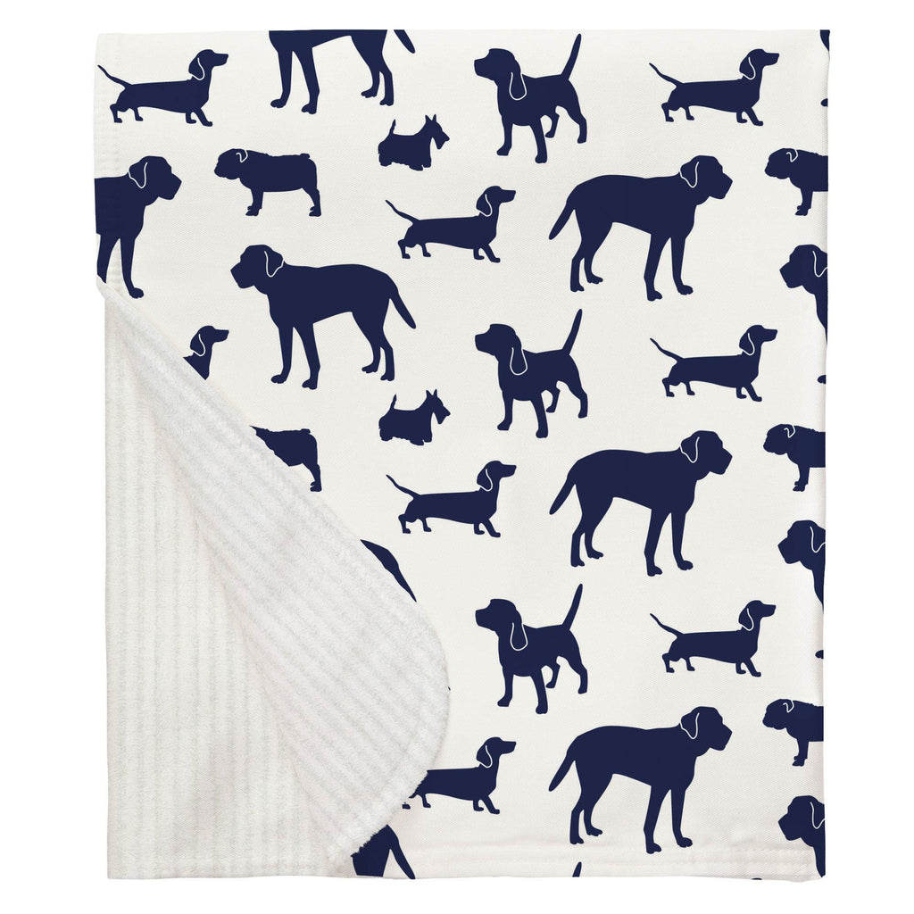 Product image for Navy Dogs Baby Blanket