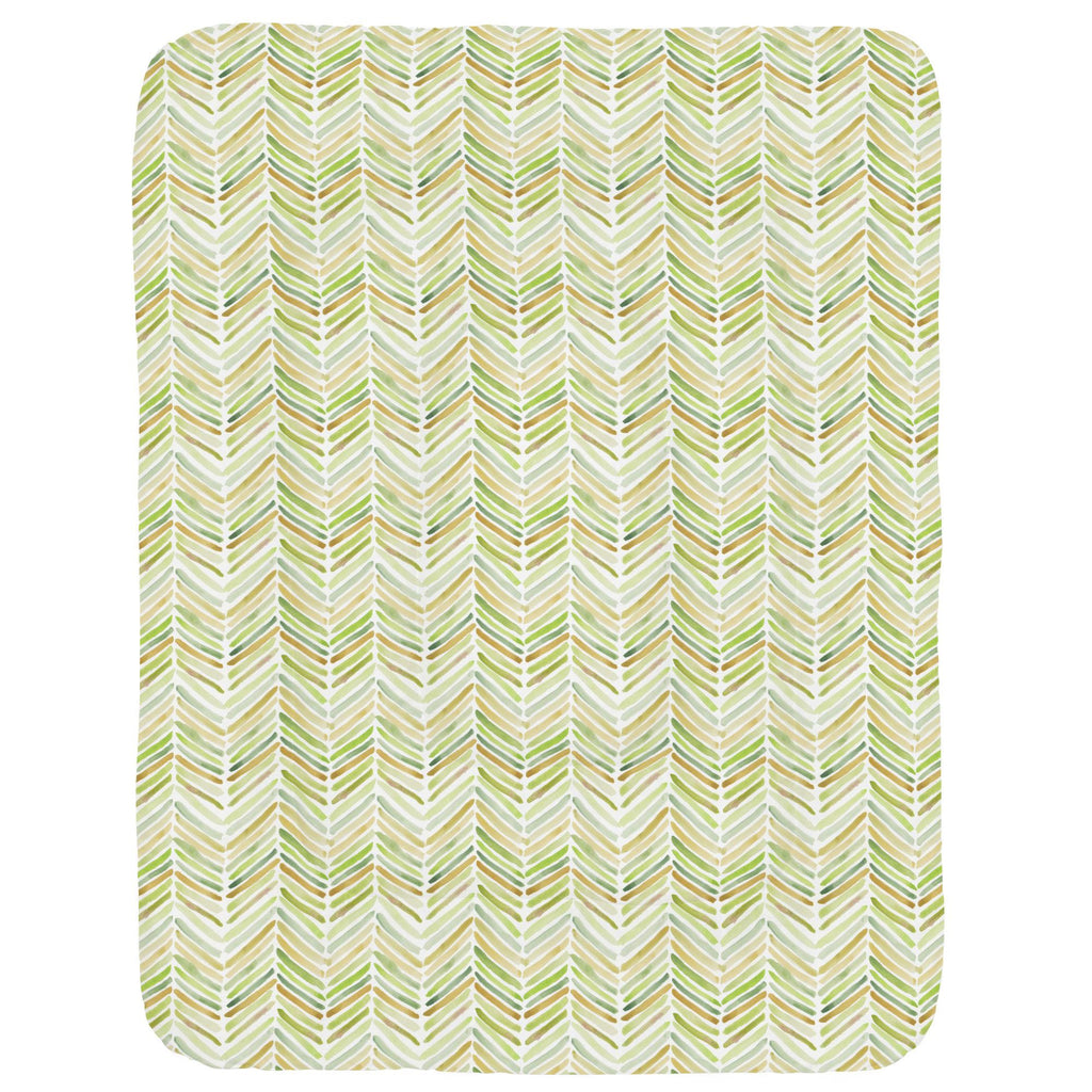 Product image for Green Painted Chevron Crib Comforter