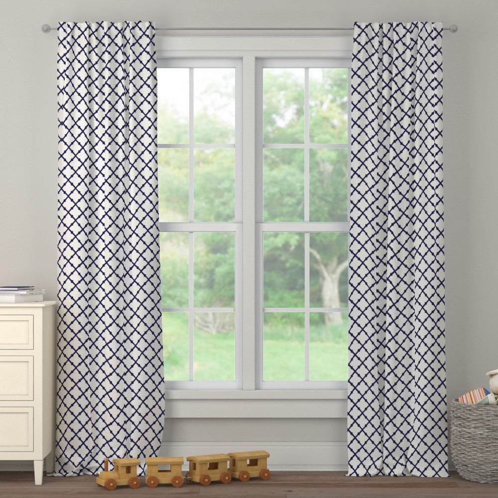 Product image for Windsor Navy Lattice Drape Panel