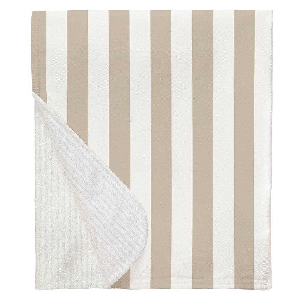 Product image for Taupe Stripe Baby Blanket