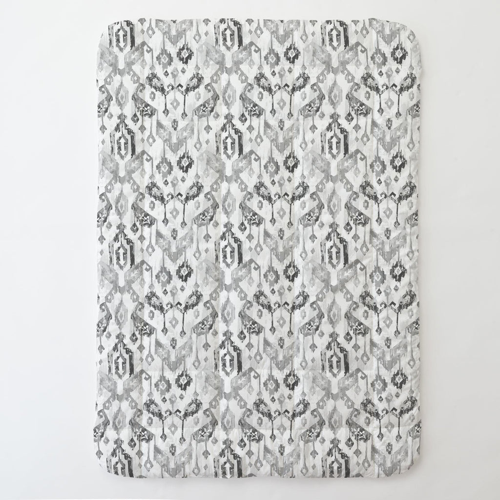 Product image for Gray Tribal Ikat Toddler Comforter