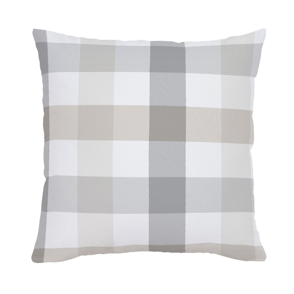 Product image for Gray and Taupe Buffalo Check Throw Pillow