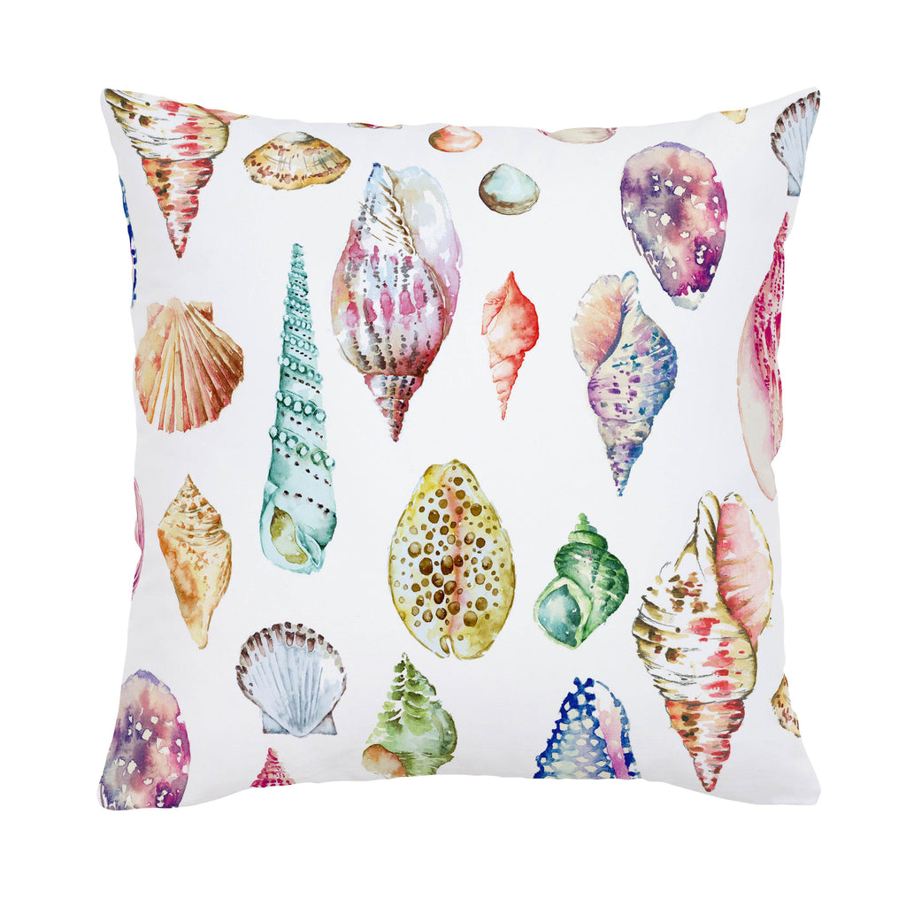 Product image for Watercolor Seashells Throw Pillow