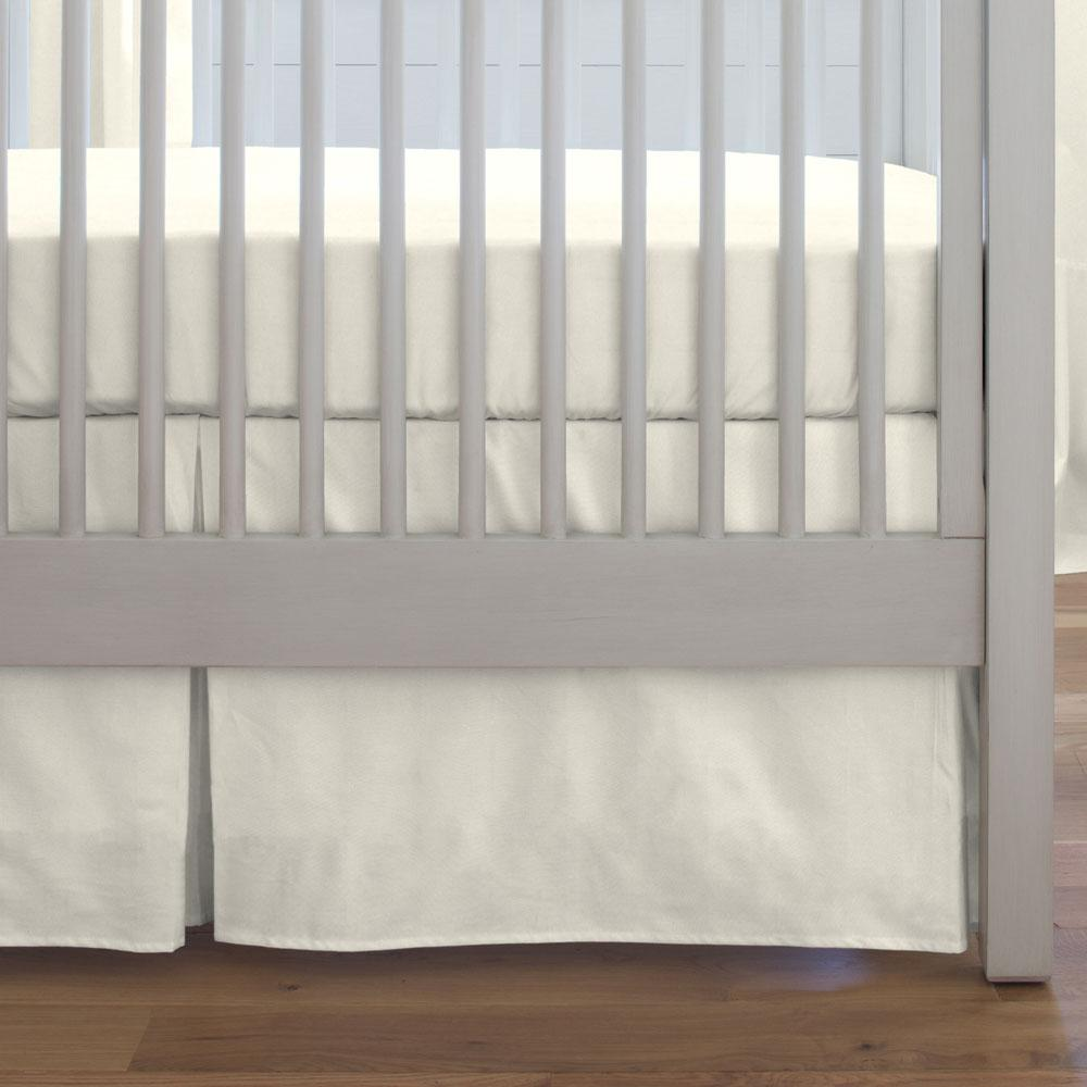 Product image for Solid Ivory Crib Skirt
