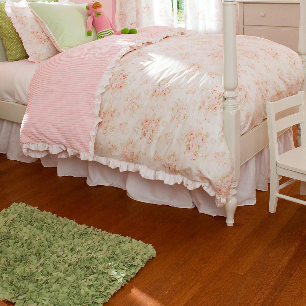Product image for Solid Pink Bed Skirt Gathered