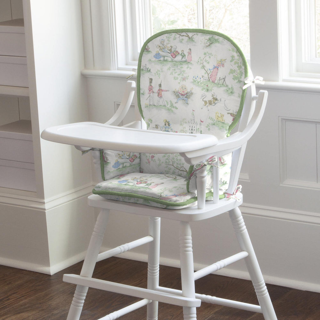 Product image for Sage and Nursery Rhyme Toile High Chair Pad