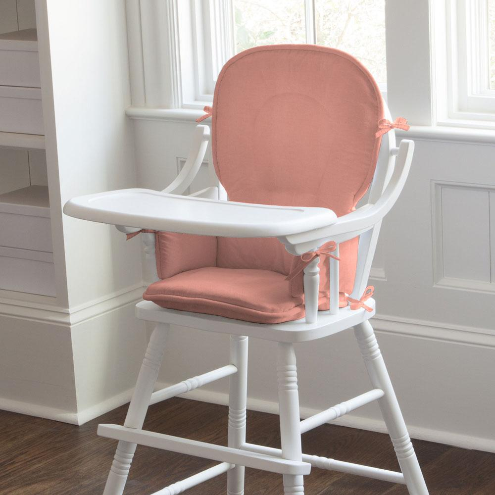 Product image for Solid Light Coral High Chair Pad
