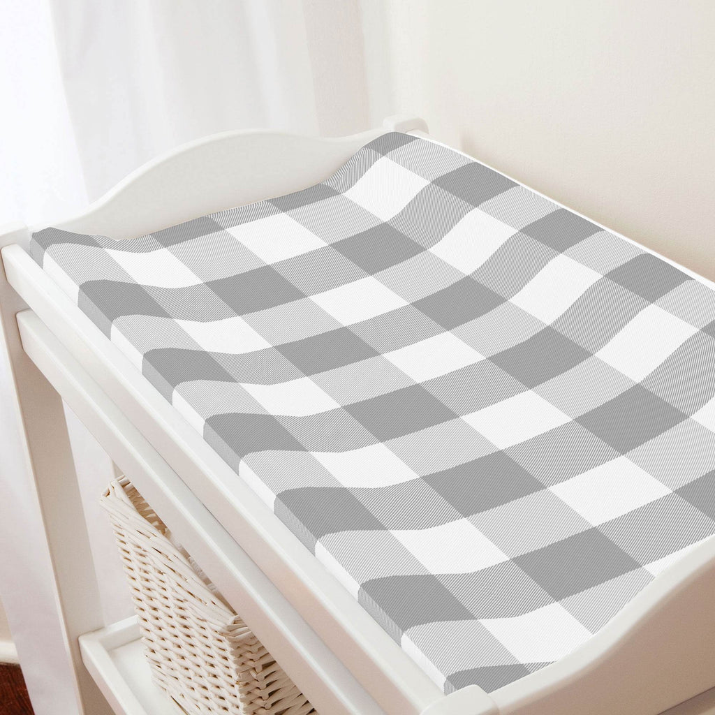 Product image for Gray Buffalo Check Changing Pad Cover