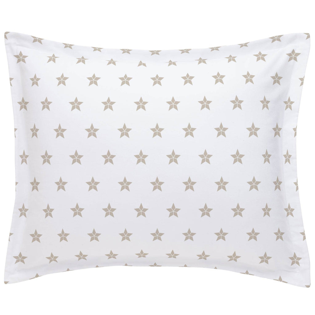 Product image for Taupe Mosaic Stars Pillow Sham