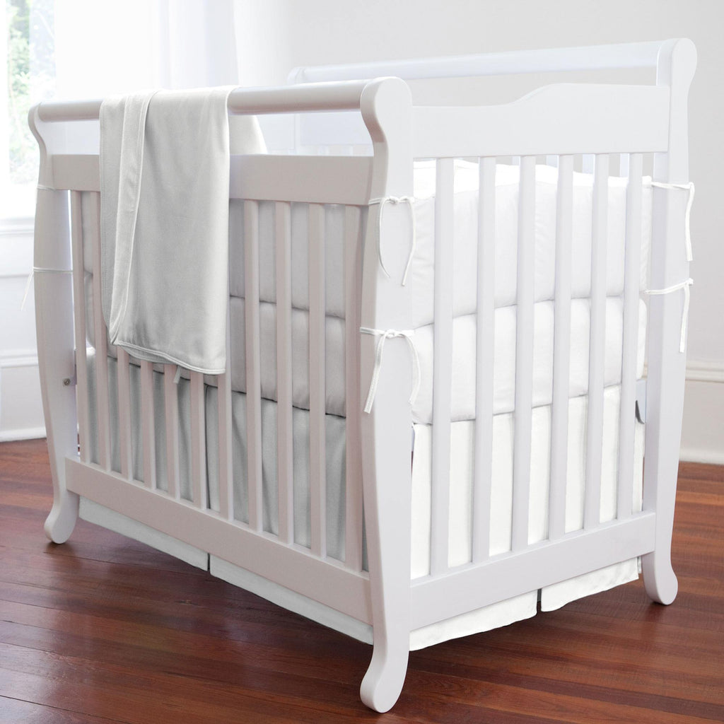 Product image for Solid White Mini Crib Skirt