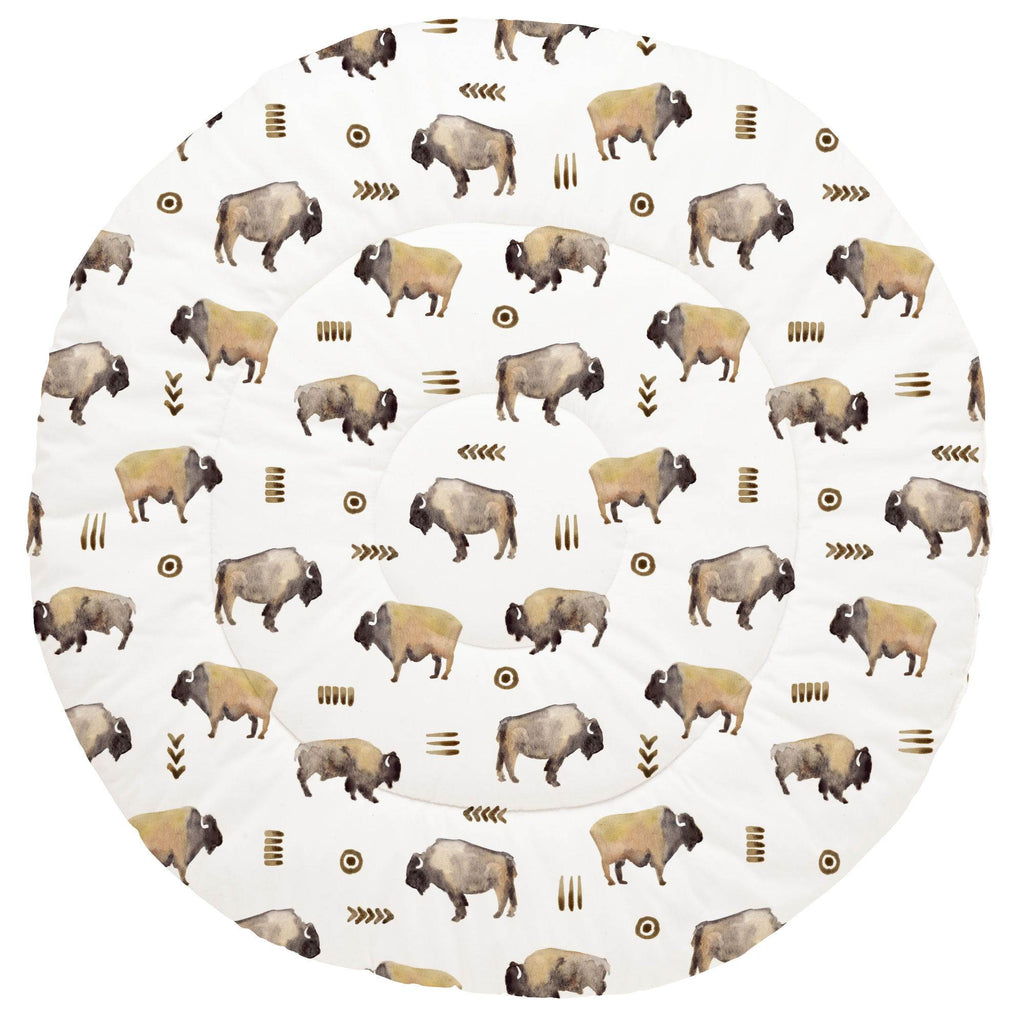 Product image for Watercolor Buffalo Baby Play Mat