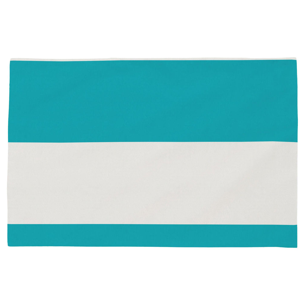 Product image for Teal Horizontal Stripe Toddler Pillow Case