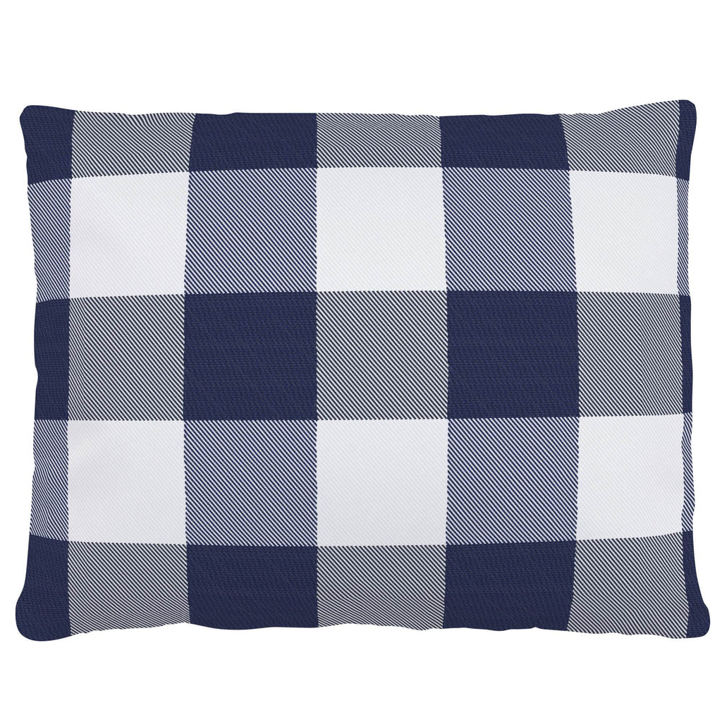 Product image for Navy and White Buffalo Check Accent Pillow