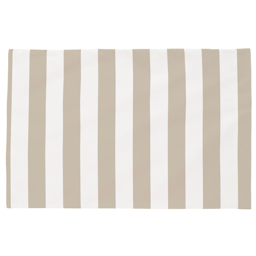 Product image for Taupe Stripe Toddler Pillow Case