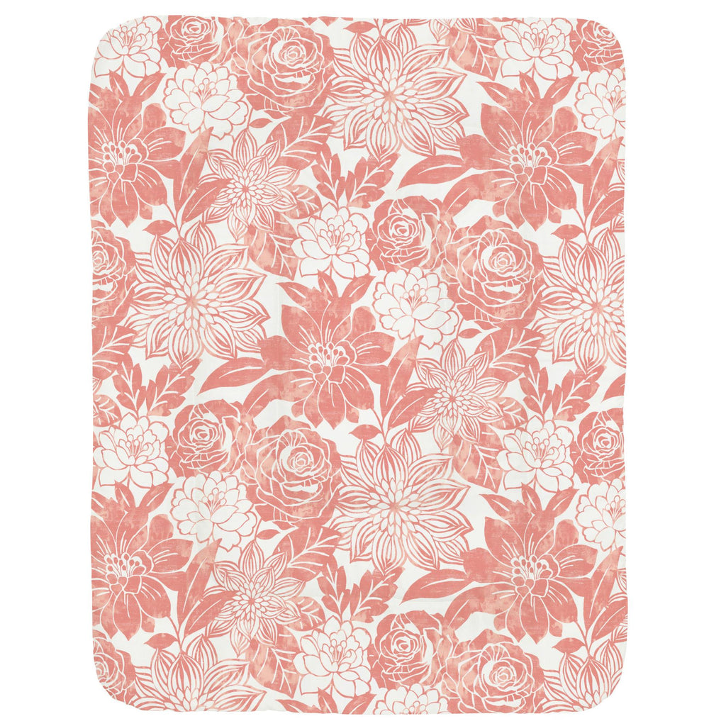 Product image for Light Coral Modern Blooms Crib Comforter