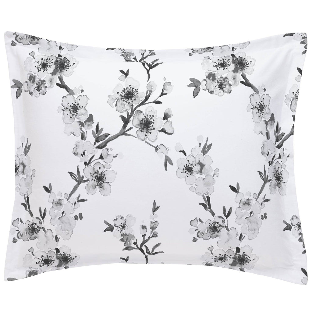 Product image for Gray Cherry Blossom Pillow Sham