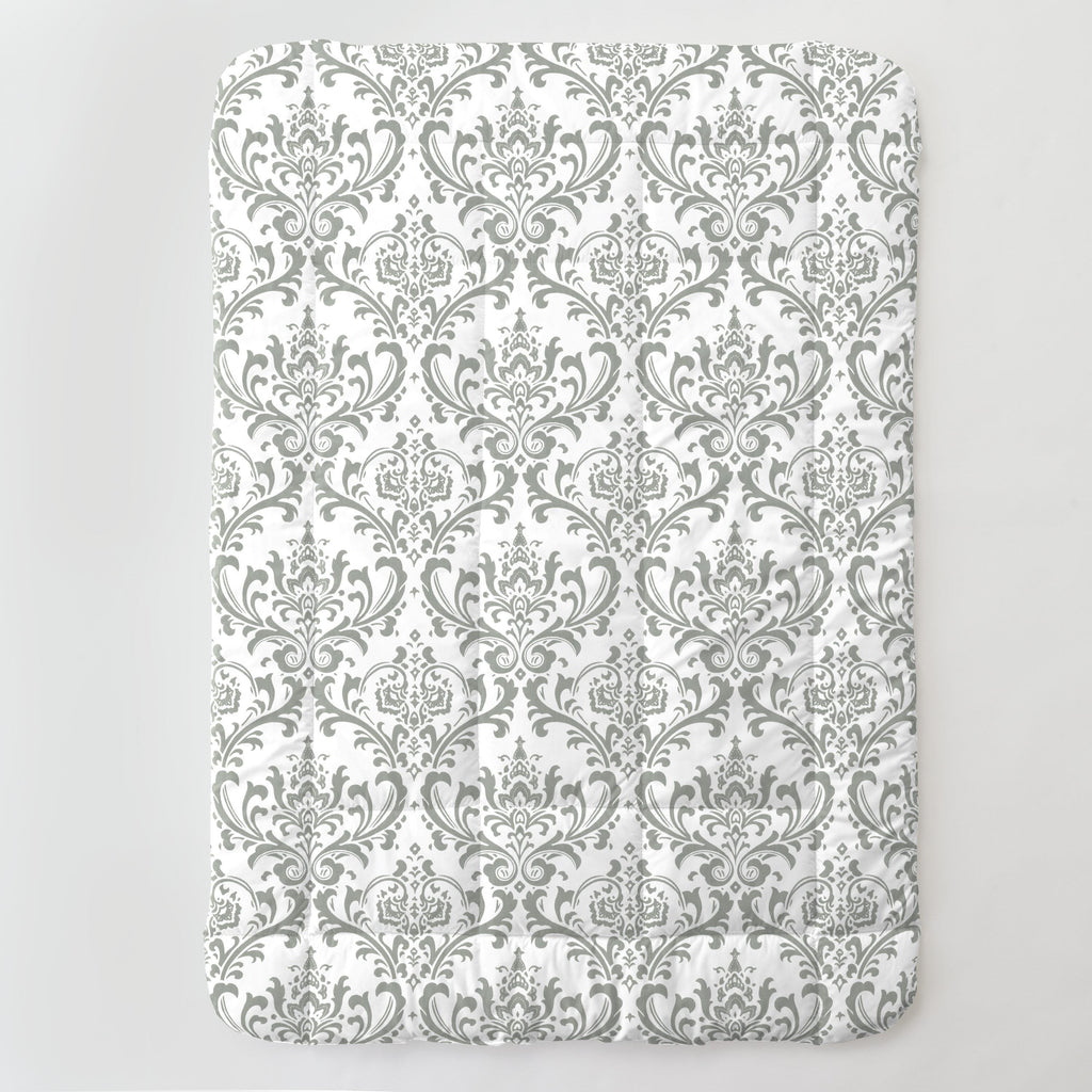 Product image for Lilac and Gray Traditions Damask Toddler Comforter