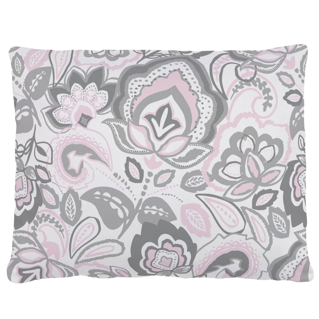 Product image for Pink and Gray Jacobean Accent Pillow