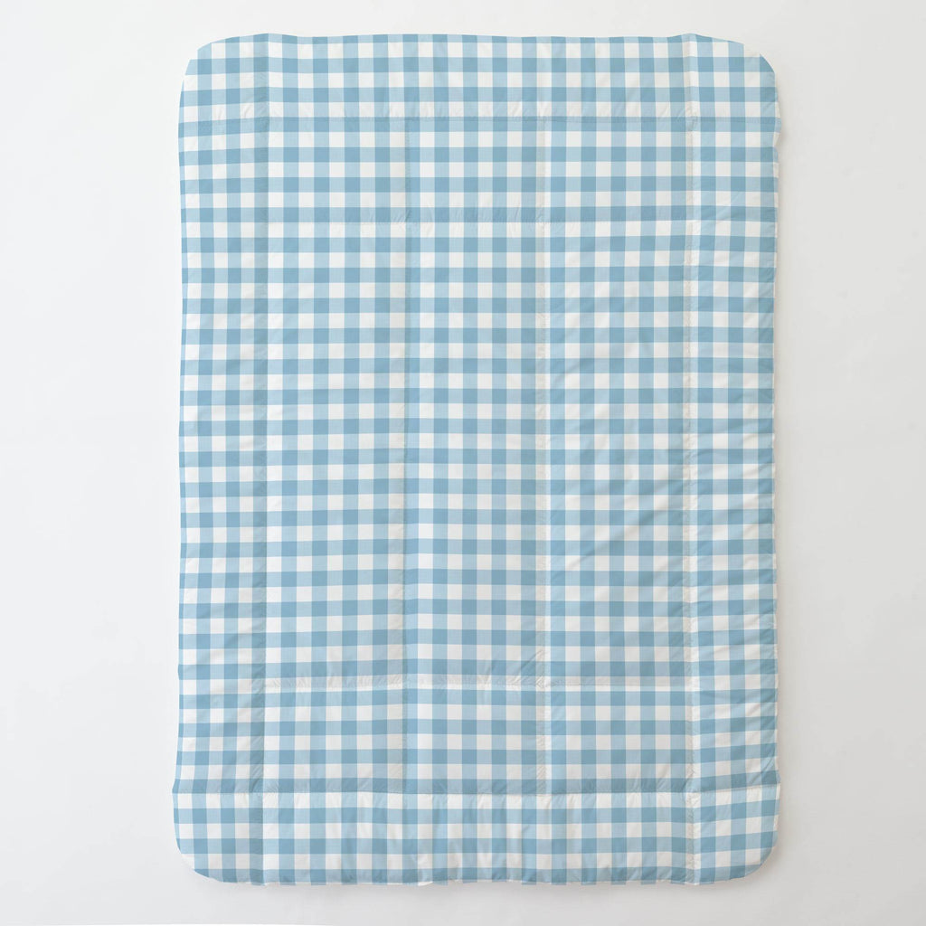 Product image for Lake Blue Gingham Toddler Comforter