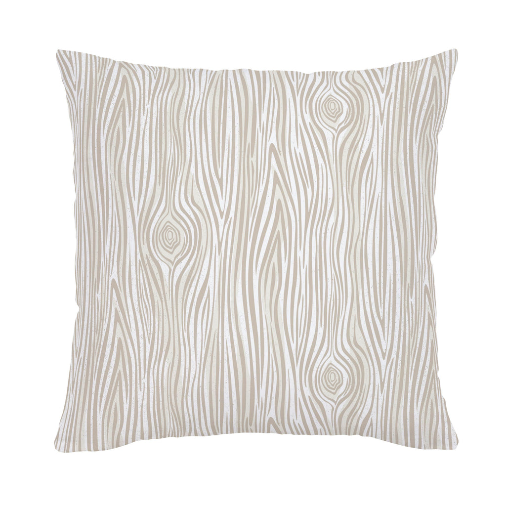 Product image for Taupe Woodgrain Throw Pillow