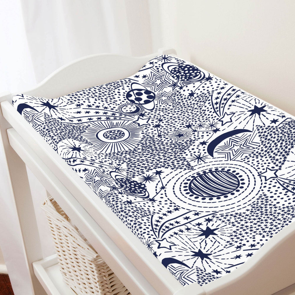 Product image for Navy Galaxy Changing Pad Cover