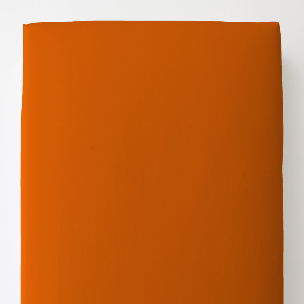Product image for Solid Orange Toddler Sheet Bottom Fitted