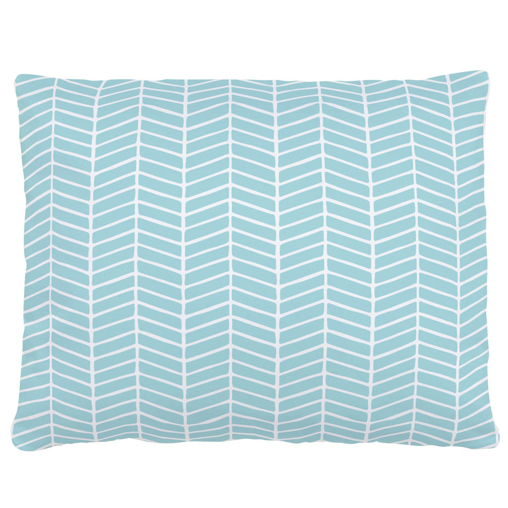 Product image for Seafoam Aqua Herringbone Accent Pillow