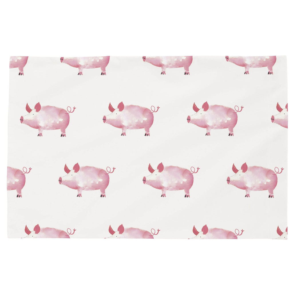 Product image for Pink Painted Pigs Toddler Pillow Case