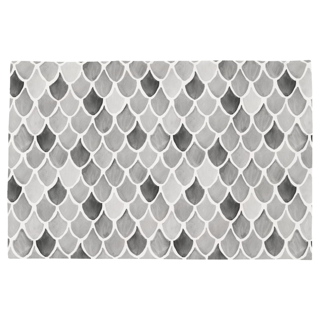 Product image for Gray Watercolor Scales Toddler Pillow Case