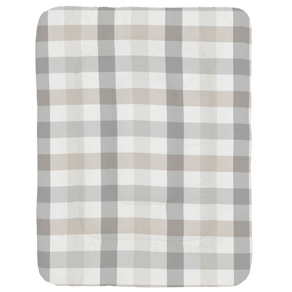 Product image for Gray and Taupe Buffalo Check Crib Comforter