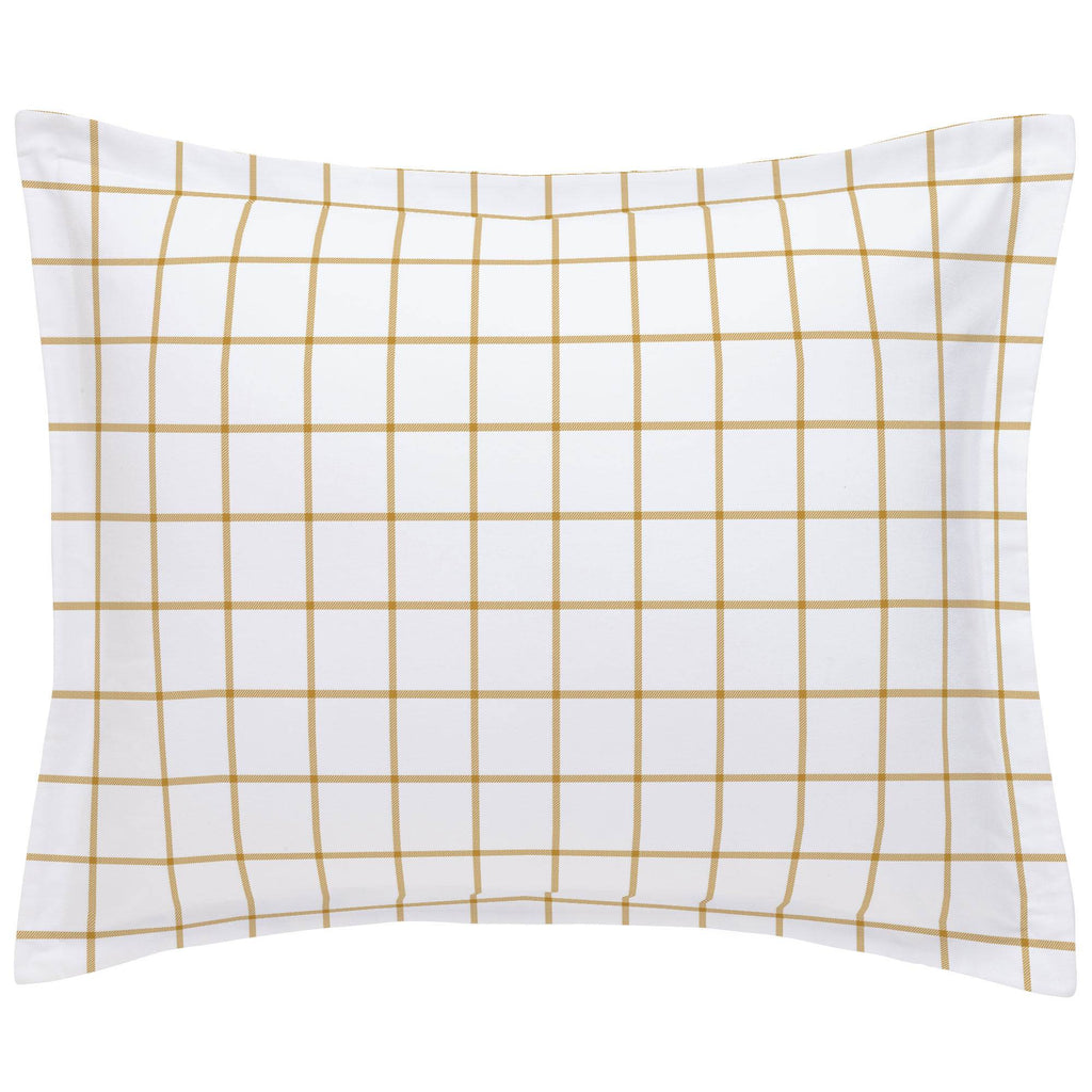 Product image for Mustard Windowpane Pillow Sham