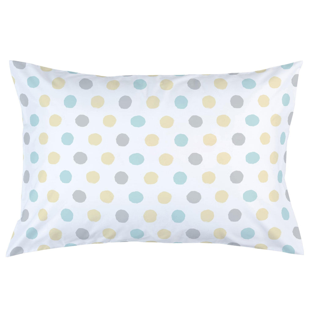 Product image for Mist and Gray Brush Dots Pillow Case