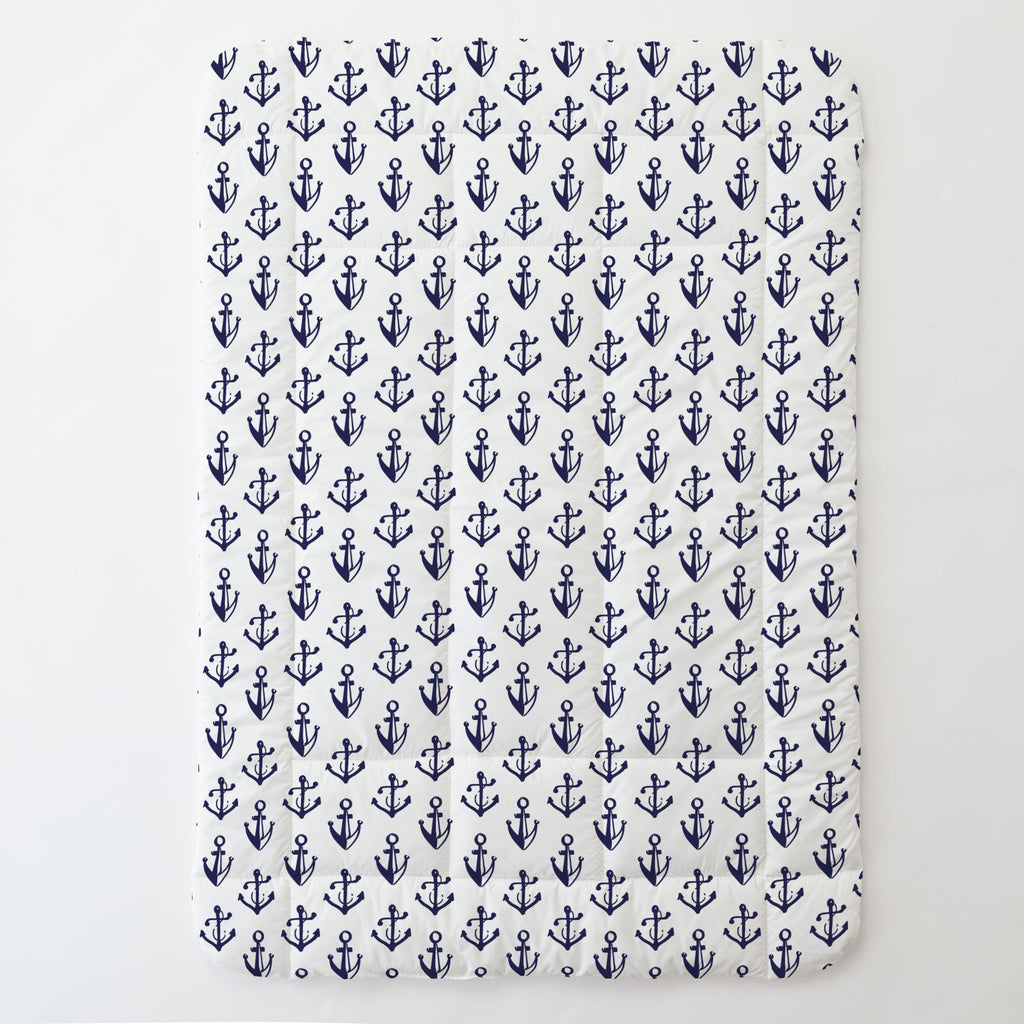 Product image for Windsor Navy Anchors Toddler Comforter