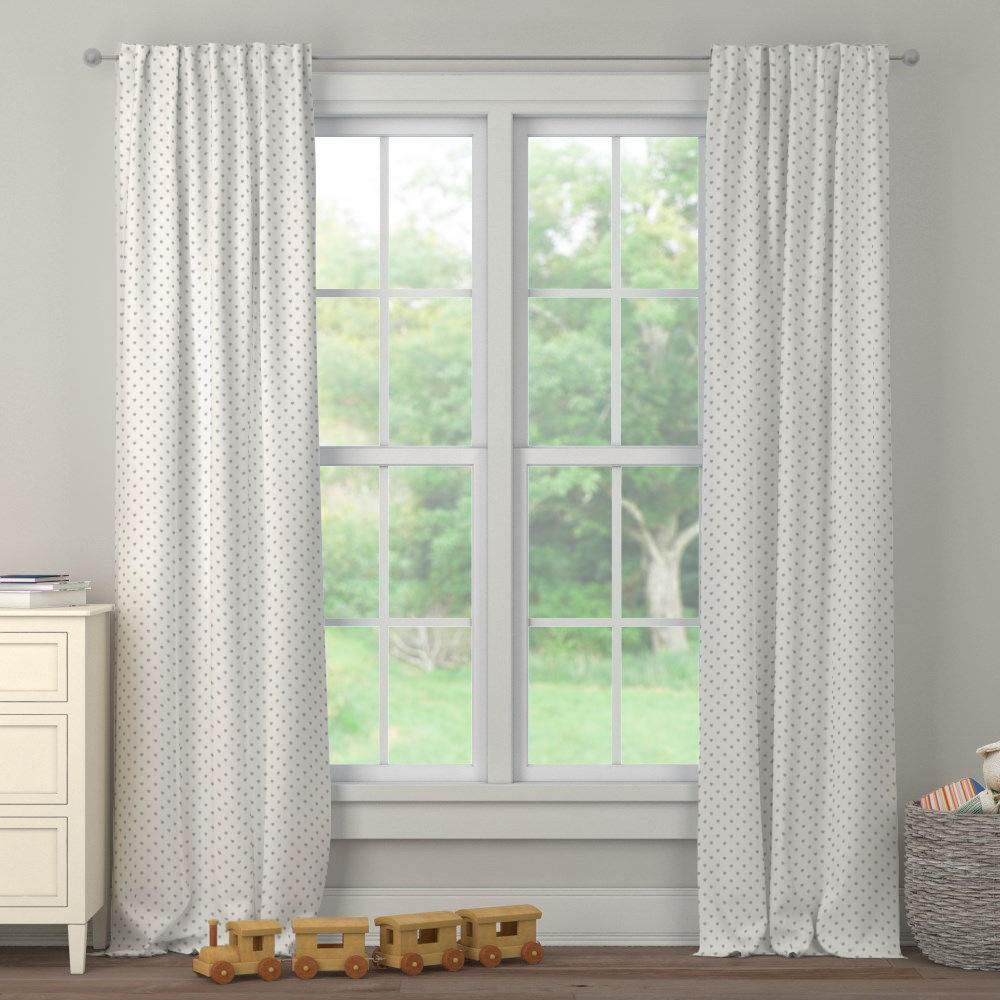 Product image for Gray Hearts Drape Panel