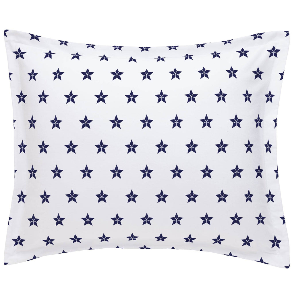 Product image for Navy Mosaic Stars Pillow Sham