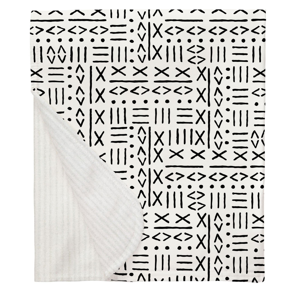 Product image for Onyx Mudcloth Baby Blanket